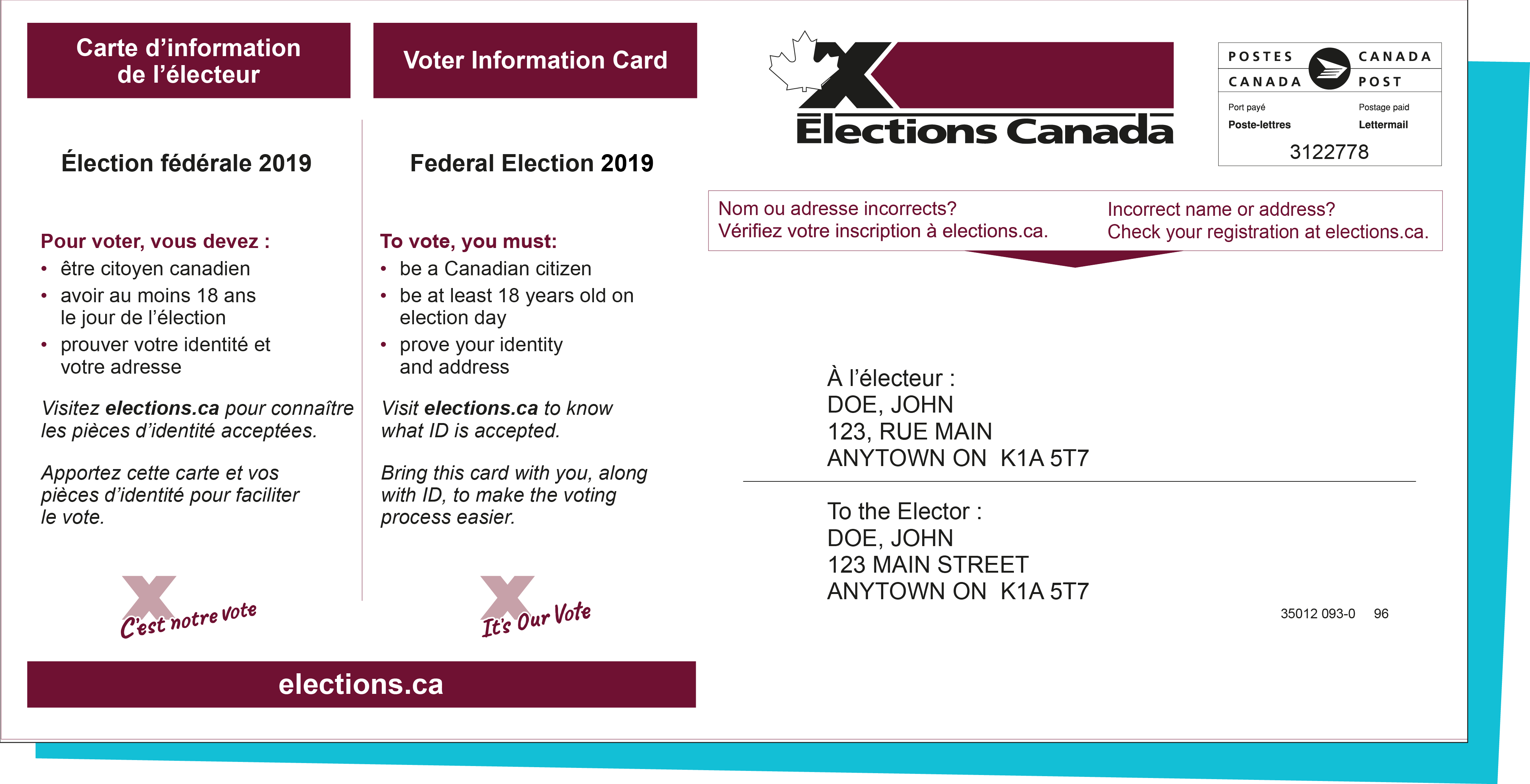 Carte d'information de l'électeur