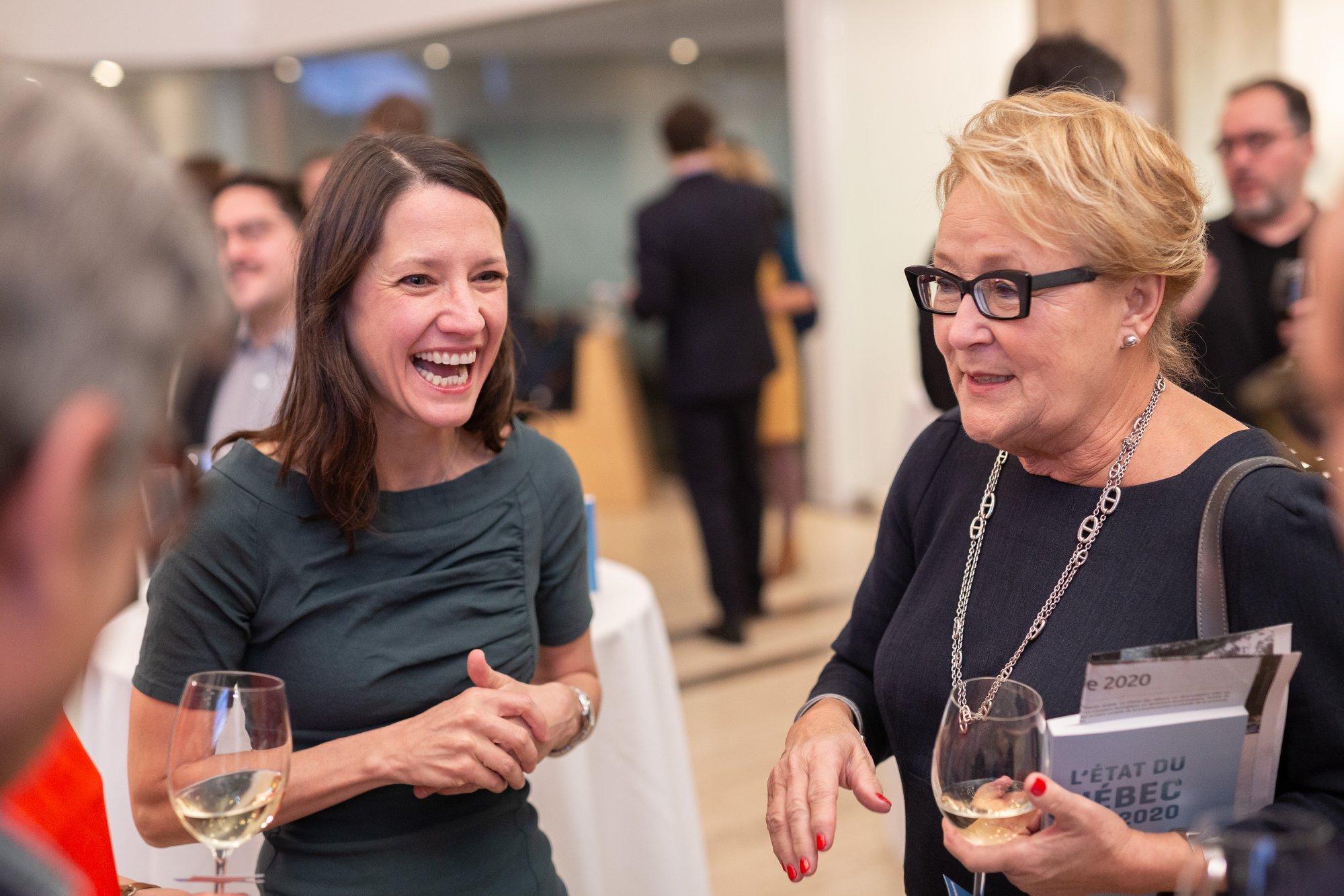 Pauline Marois et Julie Caron-Malenfant
